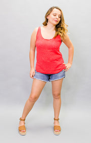 The Seaside Sweater Tank - Red