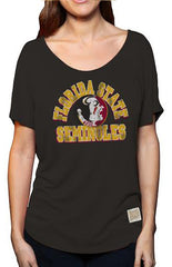 Relaxed High-Lo Seminoles Tee Tee Retro Brand - Bows and Arrows FSU Women's Game Day Dresses and Apparel
