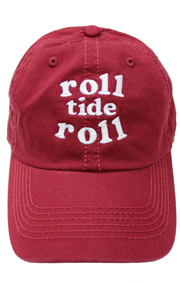 9622a7044b7 University of Alabama Crimson Tide Women's Apparel - Kickoff Couture Roll  Tide Roll Baseball Hat – Bows and Arrows Co