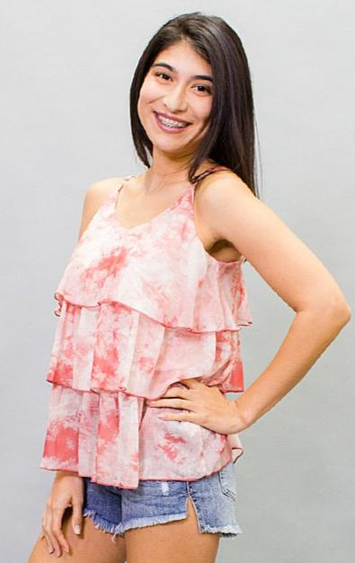 The Redington Ruffle Tie Dye Tank