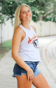 The Rachel Vintage Seminoles Crop Tank