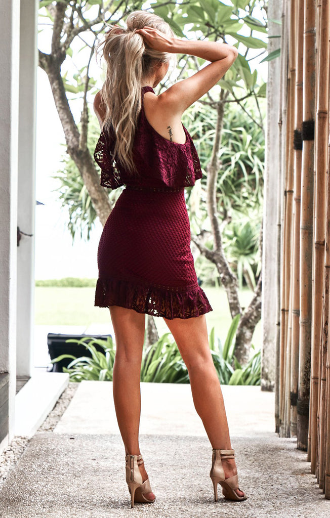 Shayne Burgundy Dress