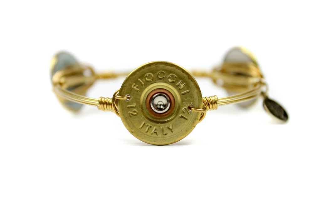 Bourbon and Boweties - Antique Gold Shot Gun Shell Bangle Jewelry Bourbon and Boweties - Bows and Arrows FSU Seminoles and UF Gators Women's Game Day Dresses and Apparel