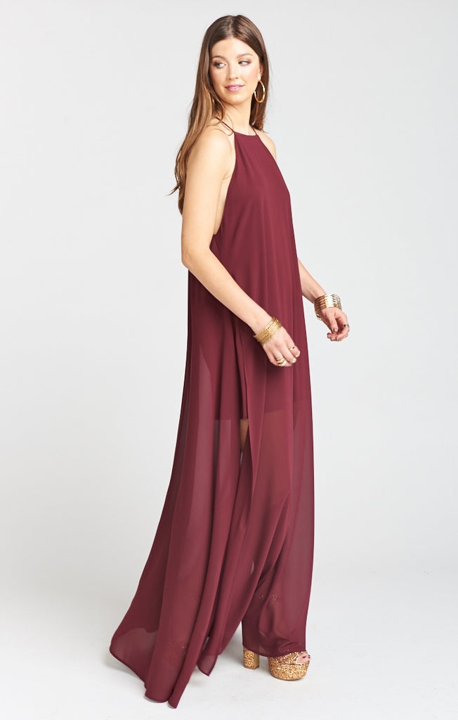 Cabernet Chiffon Bronte Maxi Dress Maxi Dress Show Me Your Mumu - Bows and Arrows FSU Seminoles and UF Gators Women's Game Day Dresses and Apparel