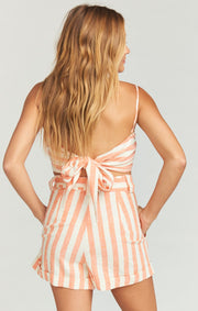 Hadley Shorts Dreamsicle Stripe Linen (2295700029488)