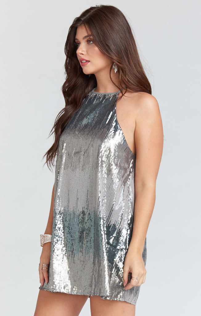 Show Me Your Shimmer Gomez Mini Dress