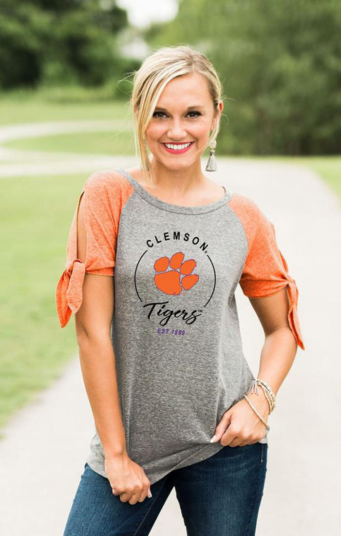 Clemson Tigers Better than the Rest Raglan Tee (3757210632240)