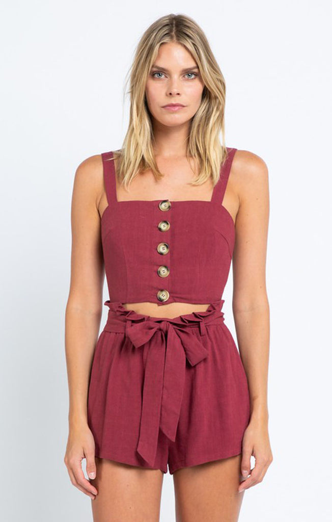 The Chelsea Garnet Crop Top