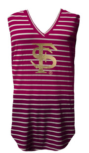 Foil FSU Striped Piko Tank (356259823649)
