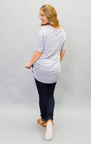 The Surfside Striped Pocket Tunic - Blue (4447033557040)