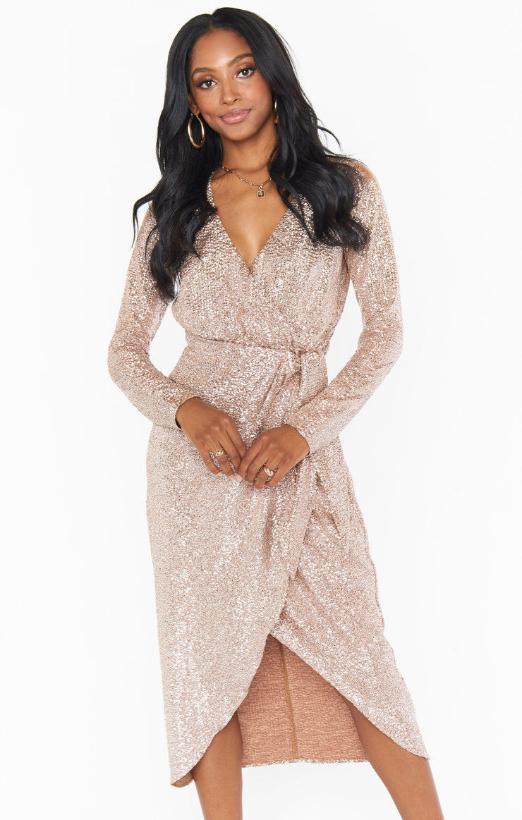 The Kimora Wrap Dress Silver Confetti