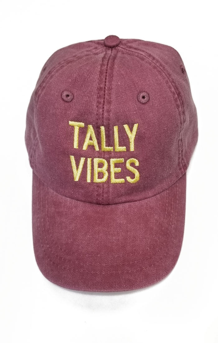 Tally Vibes Baseball Hat - Garnet
