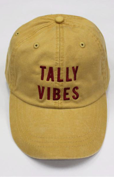 Tally Vibes Baseball Hat - Gold