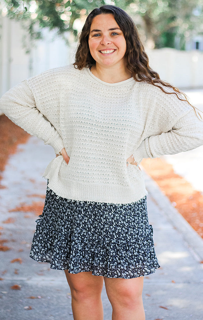 The Spring Textured Sweater (Ecru)