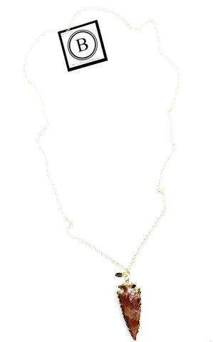 The Eva Gold Arrowhead Necklace