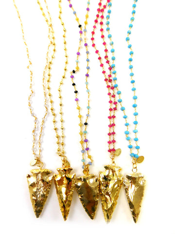 The Miller Beaded Arrowhead Necklace