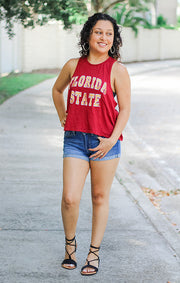 The Rachel Vintage Florida State Crop Tank