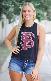 The Rachel Racerback FSU Crop Tank
