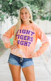 The Fight Tigers Dream On Tie Dye Pullover