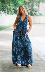 The Tropical Leaf Maxi Dress