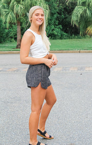 The Elastic Waist Tweed Shorts