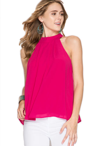 Twisted Back Fuchsia Top Blouse She & Sky - Bows and Arrows FSU Seminoles and UF Gators Women's Game Day Dresses and Apparel