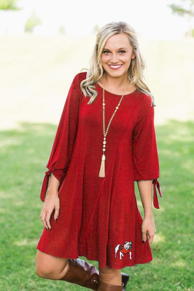 UGA Tie the Knot Dress