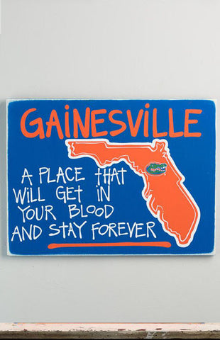 University of Florida Gainesville Map Sign