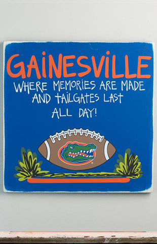 University of Florida Gainesville Tailgate Sign
