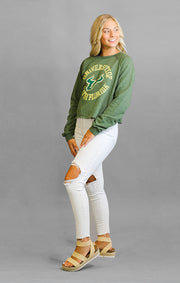 The Carlie USF Circle Crop Crew Fleece
