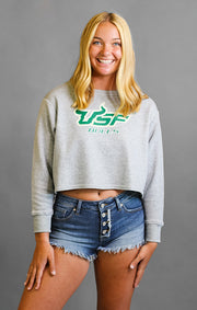 The Elana USF Bulls Cropped Sweatshirt