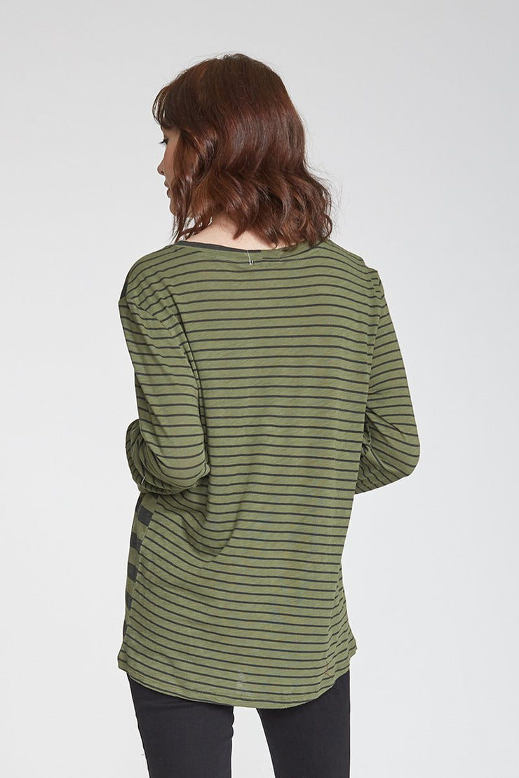 The Roni Mix Stripe Long Sleeve Tee (4199582335024)