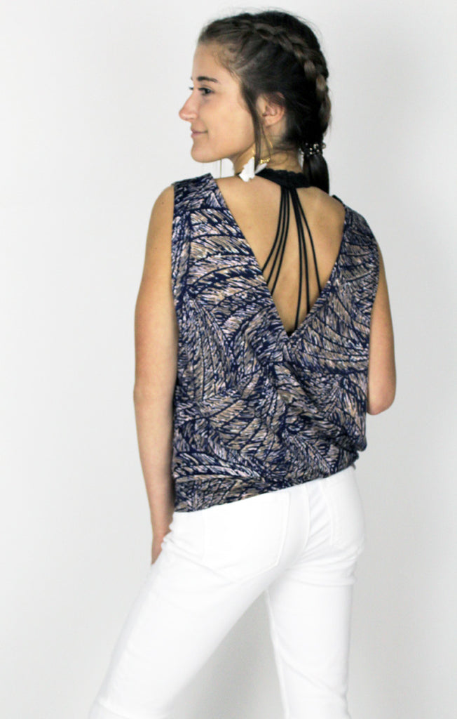 The Navy Banded Surplice Tank