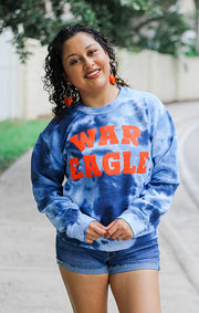 The War Eagle Dream On Tie Dye Pullover