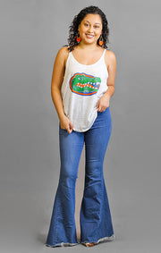 The Gators Watercolor Slouchy Tank