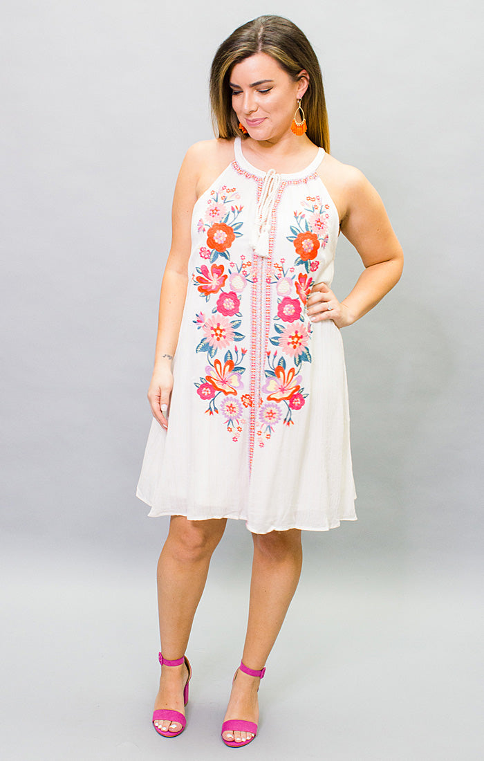 The Fiesta in Siesta Embroidered Dress (4445471932464)