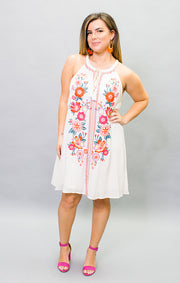 The Fiesta in Siesta Embroidered Dress