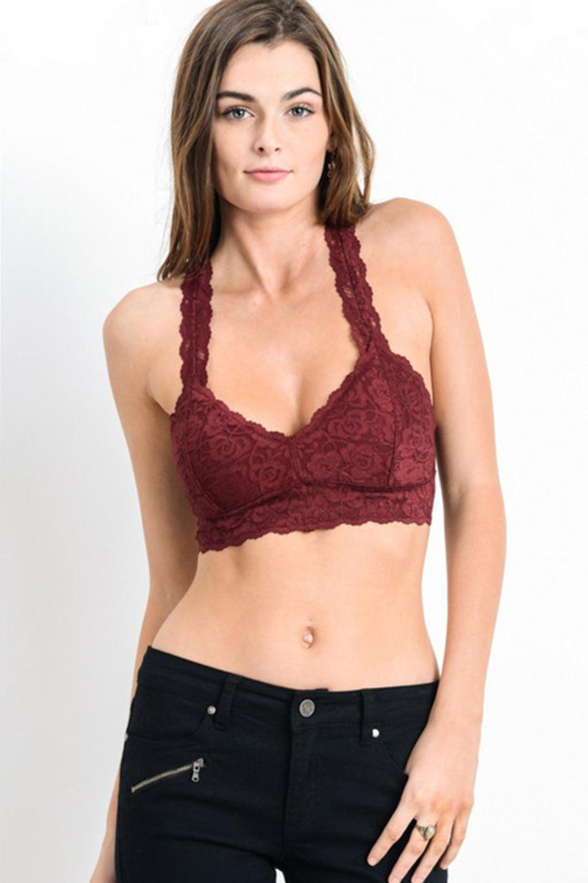 4d1282a3f77 Women s Southern Clothing Boutique - Garnet Padded Racerback Bralette –  Bows and Arrows Co