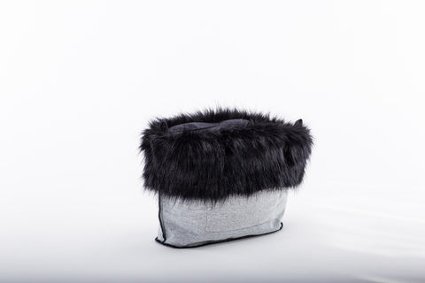 Fur Trim - Black Mink