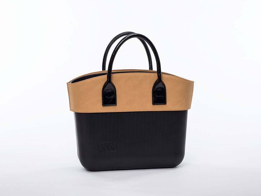 Sobo Fashion Caramel Alcantara Trim on Black Body with Black Handles