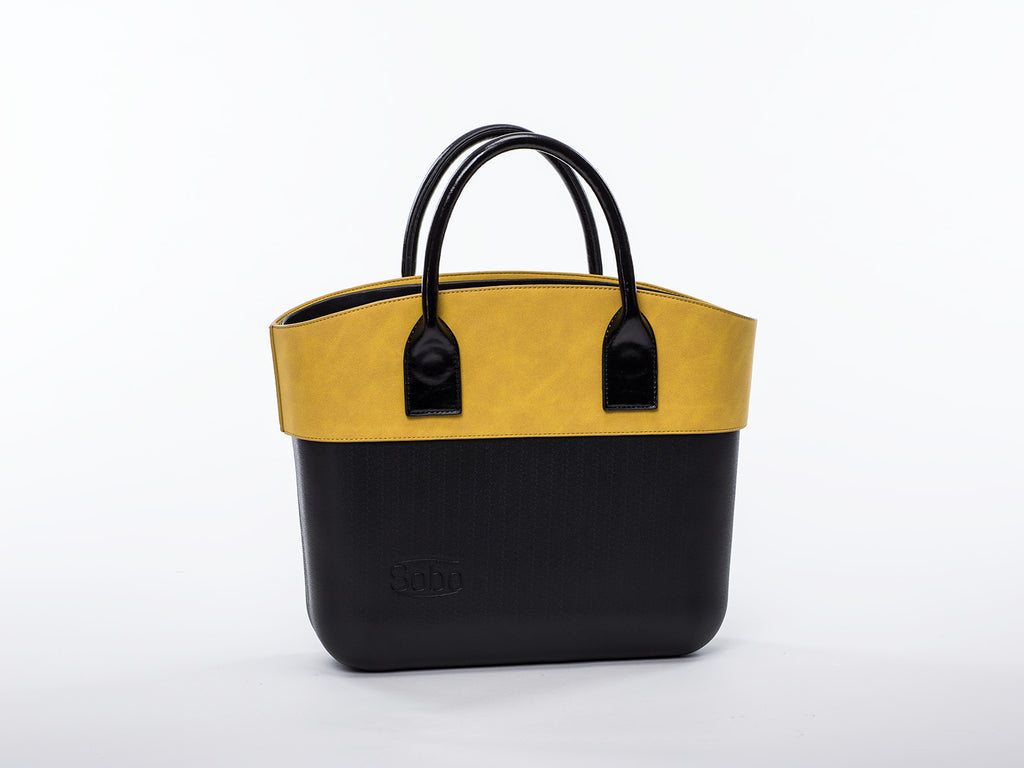 Sobo Fashion Olive Alcantara Trim on Black Body with Black Handles