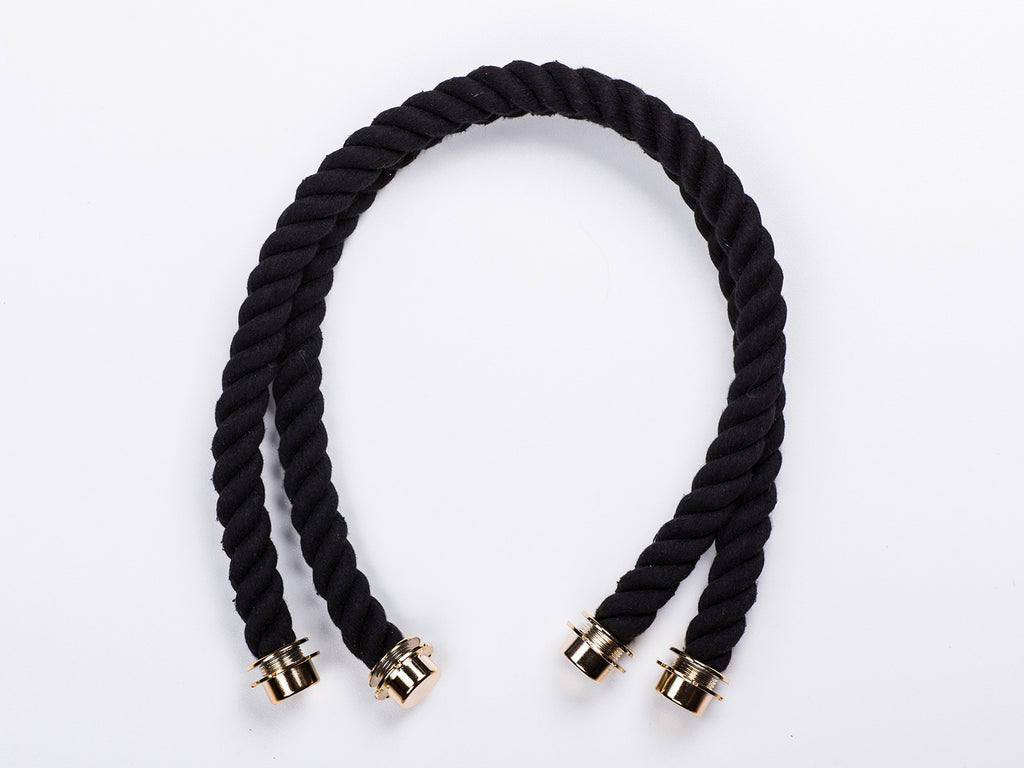 Sobo Fashion Black Rope Handles