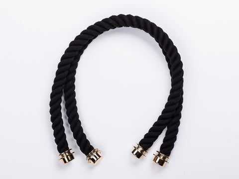 Chain Handle with Vegan-Leather