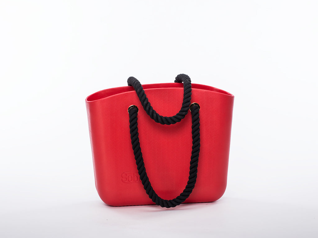 Sobo Fashion Black Rope Handles on Red Body