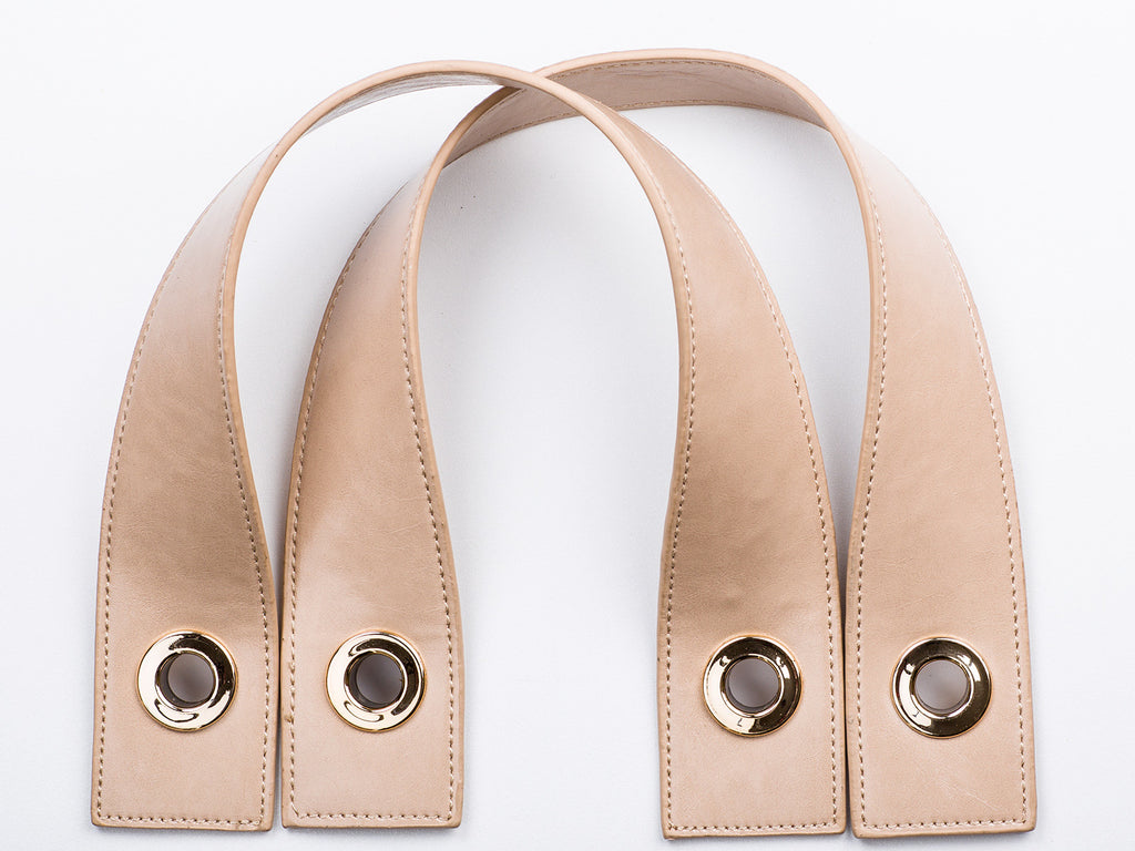 Sobo Fashion Nude Eco-Leather Strap with Gold Fasteners