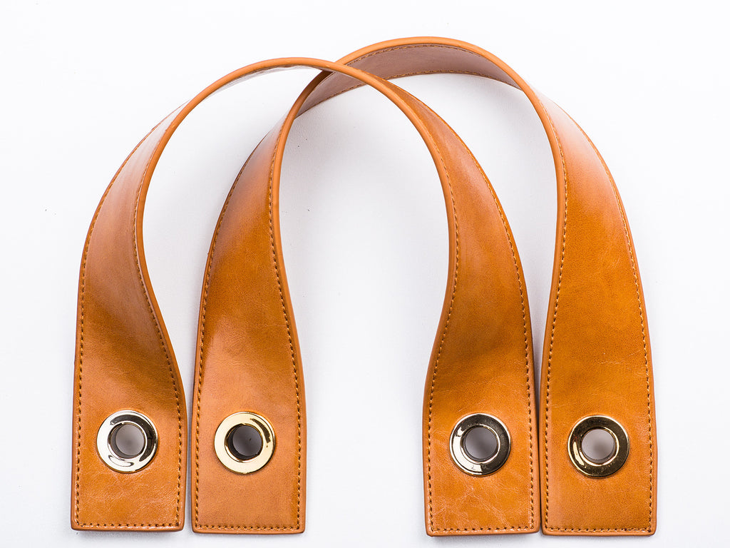 Sobo Fashion Amber Eco-Leather Strap with Gold Fasteners