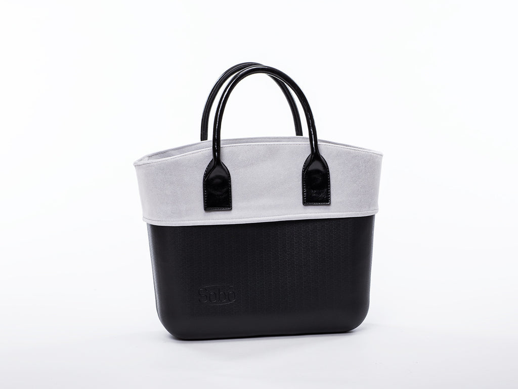 Sobo Fashion Grey Velvet Trim on Black Body with Black Handles