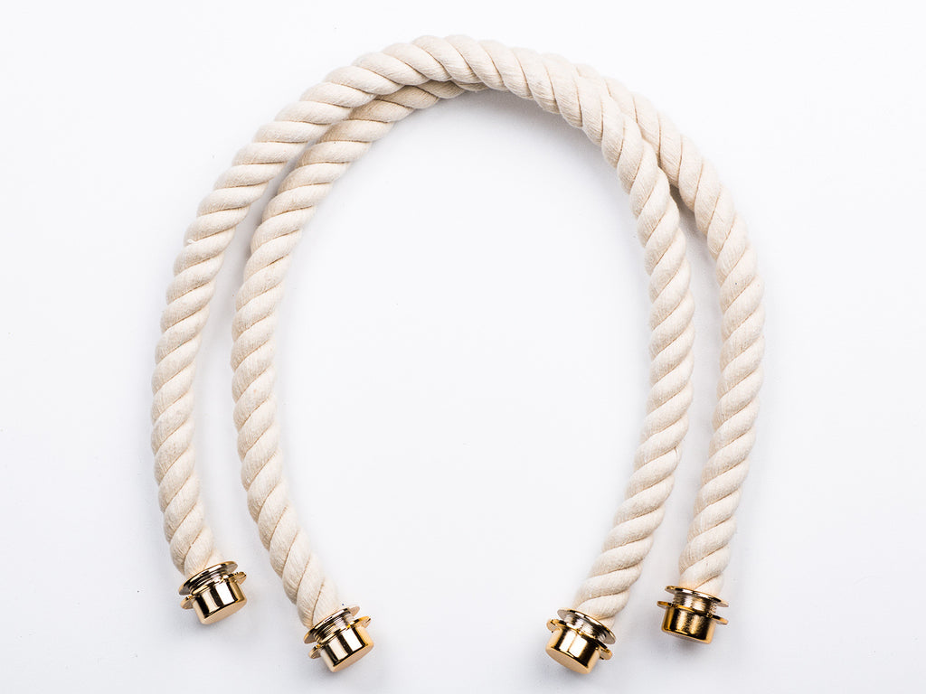 Sobo Fashion White Rope Handles