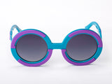 Sobo Sunglasses Light Blue and Purple Frame with Smoke Gradient Lens
