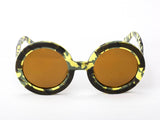 Sobo Sunglasses Camo Frame With Mirror Gold Lens